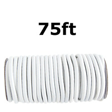 "75ft 3/8"" White Shock Cord Marine Grade Bungee Heavy Duty Tie Down Stretch Rope"