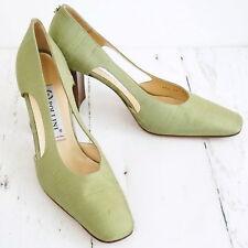 POLLINI ☀ Damen Pumps Gr. 40 Seide & Leder Woman Shoes TOP!