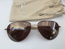Oliver Peoples Benedict Vintage Glass 59-16-130 Brown/Gold Sunglasses, Italian!