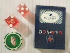 Pittsburgh Rivers Casino Authentic Cards & Dice & Las Vegas Chip Souvenir Lot