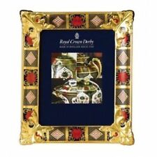 New Royal Crown Derby 2nd Quality Old Imari Solid Gold Band Large Picture Frame