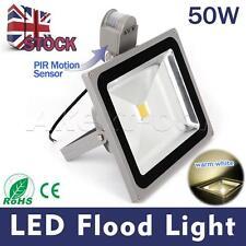 LED Pri Sensor Waterproof Floodlight Security Light Outdoor Garden With Motion 50w Warm White