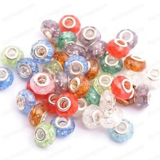 Wholesale Mixed Silver Buckle Faceted Acrylic Crack Bead For European Beaded