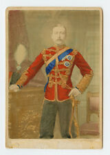 Vintage Cabinet Card Prince Arthur, Duke of Connaught Hand Painted. Photo