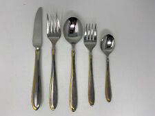 Mikasa Stainless Estasi Alessandro Gold Accent 5 Piece Place Setting Flatware