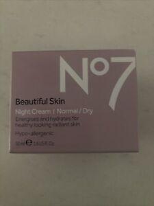 Boots No 7 Beautiful Skin Night Cream  Hypo-Allergenic - Normal Dry 50ml.