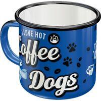 Hunde Narr Dog Emaille Kaffeetasse Tasse 360 ml. coffee mug