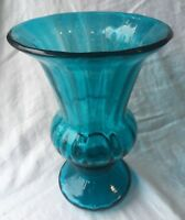 "Fenton Jamestown Blue Urn Vase 10.5"" Tall Large"