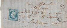 1866 LETTRE CACHET PERLE FOUG MEURTHE ET MOSELLE INDICE 8 +OR BOUCQ