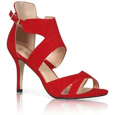 WOMENS LADIES HIGH HEEL POINT TOE STILETTO SANDALS ANKLE STRAP PEEPTOE SHOES