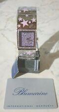 "BLUMARINE Swiss women's watch with swarovski and pink stars on the strap ""new"""