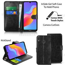 For Huawei Y6 2019 Case Phone Wallet Leather Cover Book Magnetic + Screen Film