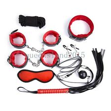 8pcs-SM-Set-restraint-Restraints-Leather-Cuffs-Whip-Gag-Fetish-Cosplay-Collar