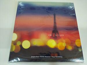"""Chanteurs Jacques Brel Charles Aznavour Gainsbourg LP Vinilo 12"""" Nuevo 2T"""