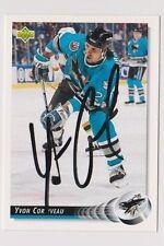 92/93 Upper Deck Yvon Corriveau San Jose Sharks Autographed Hockey Card