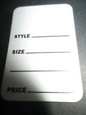Price Tag Unstrung Printed 1 3/4 x 2 7/8 #1215 Packed 200