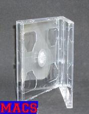 Doppel CD Hülle durchsichtig transparent für 2 CDs DVDs 2fach 10 mm 1 cm Neu