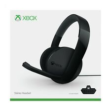 Official Microsoft Xbox One Stereo Headset - Black (No Adapter) (Xbox One) NEW