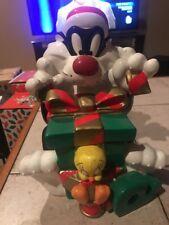 Warner Bros. Store Exclusive Sylvester & Tweety Christmas Cookie Jar 1998