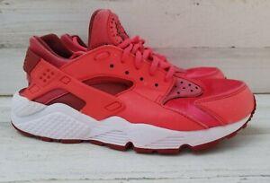 Nike Air Huarache Run Red Running Shoes 634835-801 Women's Size 9