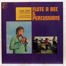 BERNOLIN, KEETMAN - CARL ORFF Flûte à bec & percussions HARMONIA MUNDI LP NM