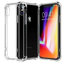 For iPhone XS Max XR X Case Clear Transparent Cover Shockproof Hard PC Bumper
