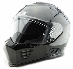 Simpson Ghost Bandit Venom Helmet Road Legal White Black Internal Visor UK M L