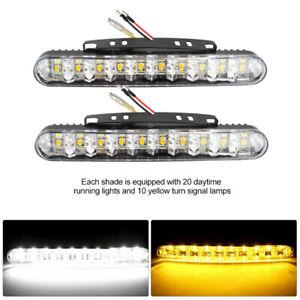 2x High Power Bright White 30 LED Car Daytime Running Lights Fog Lamps Light Bar
