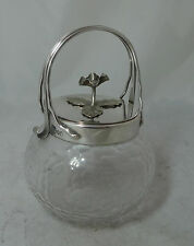 Antique Silver Plated Preserve Jar By Hukin & Heath A602017