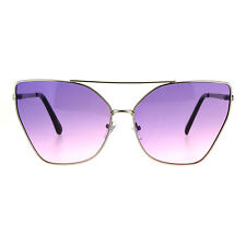 Womens Color Oceanic Gradient Metal Cat Eye Gothic Sunglasses
