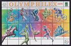 2000 Olympic Sports OLYMPHILEX Overprint CTO Sheetlet - Flinders Lane Vic 3000