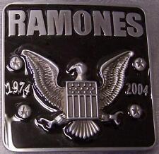 Pewter Belt Buckle Music Ramones NEW