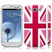 Per Samsung Galaxy s3 i9300 Rosa Union Jack Bandiera HARD BACK CASE COVER