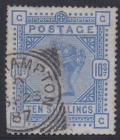 GB113) Great Britain 1883 10/- Ultramarine on Blued paper