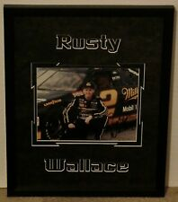Rusty Wallace Autographed Genuine Draft Framed Authenticated photo circa 2001