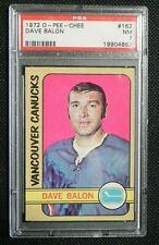1972-73 72/73 O-Pee-Chee #162 Dave Balon Vancouver Canucks PSA 7 NM