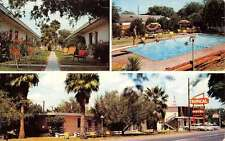 McAllen Texas Tropical Motor Hotel Multiview Vintage Postcard K36501