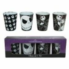 NIGHTMARE BEFORE CHRISTMAS JACK SKELLINGTON 4 PIECE SHOT GLASS SET