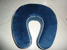 NEW Worlds Best Cushion/Soft Memory Foam Neck Pillow in Navy