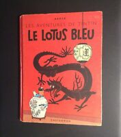 Les aventures de Tintin. Le Lotus bleu. Casterman 1946 EO couleur. B1