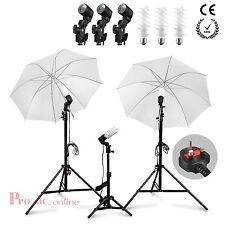 Studio Photography Umbrella Light Stand Set Continuous Lighting Kit+bulb Lamp x3