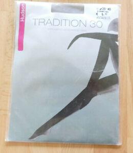 48-50 perle 28 den Collant Tights OVP HUDSON Tradition Strumpfhose Gr