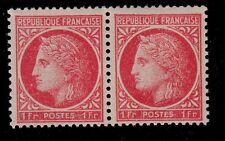 VARIÉTÉ N°:676(Les deux teintes se tenant Rose rouge et le rose rouge plus vif)