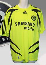 Vintage Adidas Chelsea Climacool Camiseta de Fútbol Manga Corta Away Amarillo L
