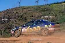 CARLOS SAINZ SUBARU IMPREZA 555 RALLY Australiano fotografia 1995