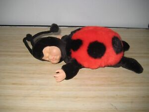 ANNE GEDDES-BABY LADYBUG  DOLL- 23CMS TO TOP OF HEAD-GREAT USED