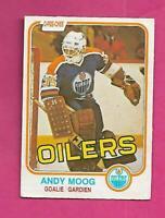 1981-82 OPC # 120 OILERS ANDY MOOG ROOKIE  GOOD CARD (INV# C7547)