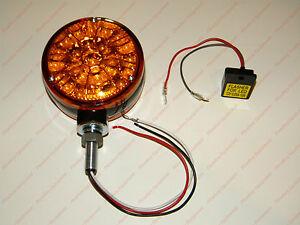 LED Amber Warning Light / Flasher Unit for John Deere Massey Ferguson Tractor