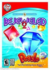 Bejeweled 2 With Peggle PC MAC Brand New Sealed Fast Shipping