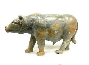 Statue  GABON - AFRIQUE - BUFFLE EN PIERRE DE MBIGOU